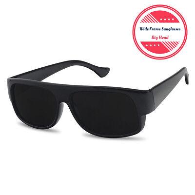 XL Large Super Dark OG Cholo Wide Frame Sunglasses Black Lowrider Loc (Large Frame Male)