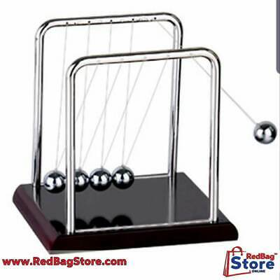 Newtons Cradle Fun Steel Balance Balls Physics Science Pendulum Desk Toy