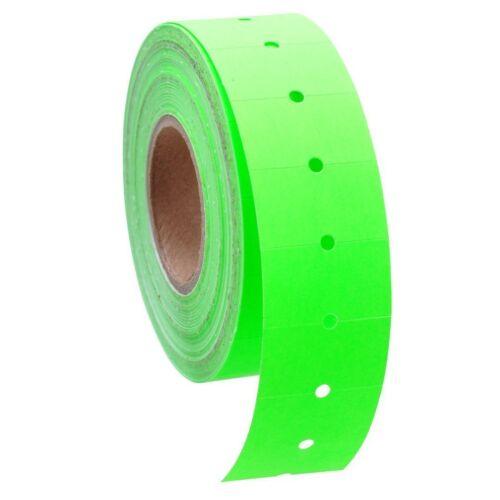 10 Rolls / 5000 Tags GREEN labels for Motex MX-5500 L5500 Mx989 Price Gun