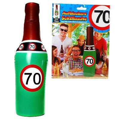 70 Geburtstag aufblasbare Sektflasche witzige Geschenke Deko Partydekoration