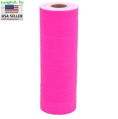 10 Rolls 5000 Tags Pink Labels For Motex Mx-5500 L5500 Mx989 Price Gun