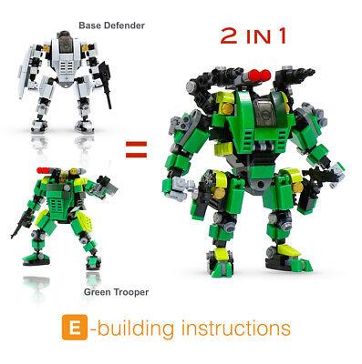 Trooper Base - Mecha Frame  1+1 BUNDLE MF05-A01 Base Defender & MF05-G01 Green Trooper Defender