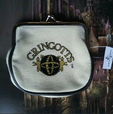 The Wizarding World Of Harry Potter Gringotts Coin Purse NWT +Map (Harry Potter Purses)