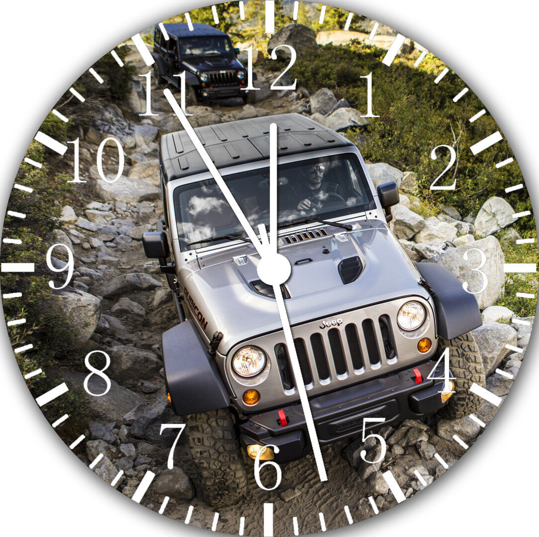 Jeep Wrangler Off Road Frameless Borderless Wall Clock For Gifts Decor E219