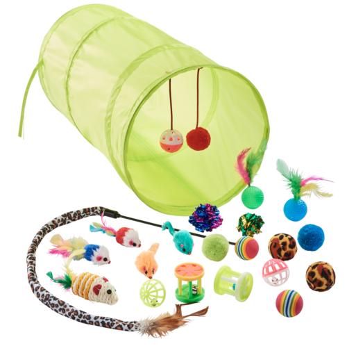 21 teiliges Katzenspielzeug Set