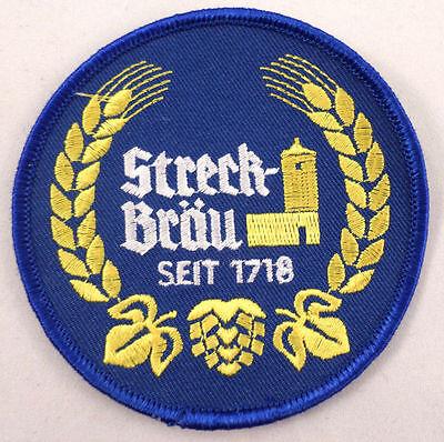 Streck Brau Brou Seit 1718 German Beer Uniform Patch