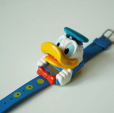 1991 Disney Donald Duck Talking Time Sounds Fun Watch Vintage Toy Time Piece