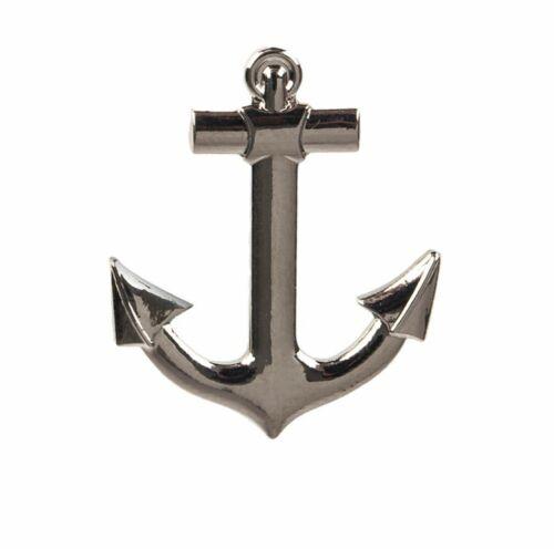 "Anchor Lapel Pin 20.1mm x 24.5mm (3/4"" x 1"") Hat Tie Tack Badge Pin"