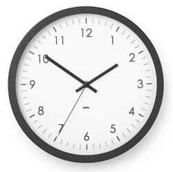 12 Inch Large Decorative Wall Clock Universal Silent Non Ticking By Umbra