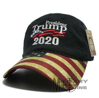 New Donald Trump Black Cap USA Flag Keep America Great Maga hat President 2020