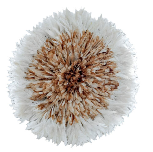 """JuJu Hat 30"""" White & Brown Hat for Wall Décor & Wall Hanging   Boho Wall Hanging"""