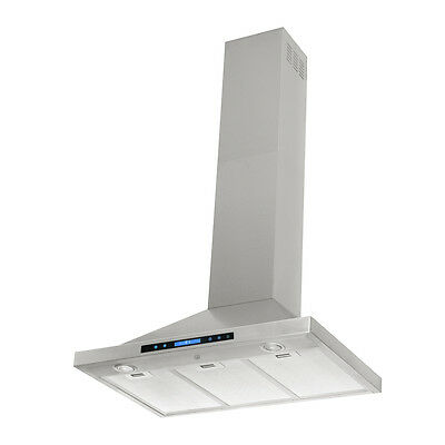 30 in Kitchen Stainless Steel Range Hood Vent Touch Screen Fan s Wall Mounted on Rummage