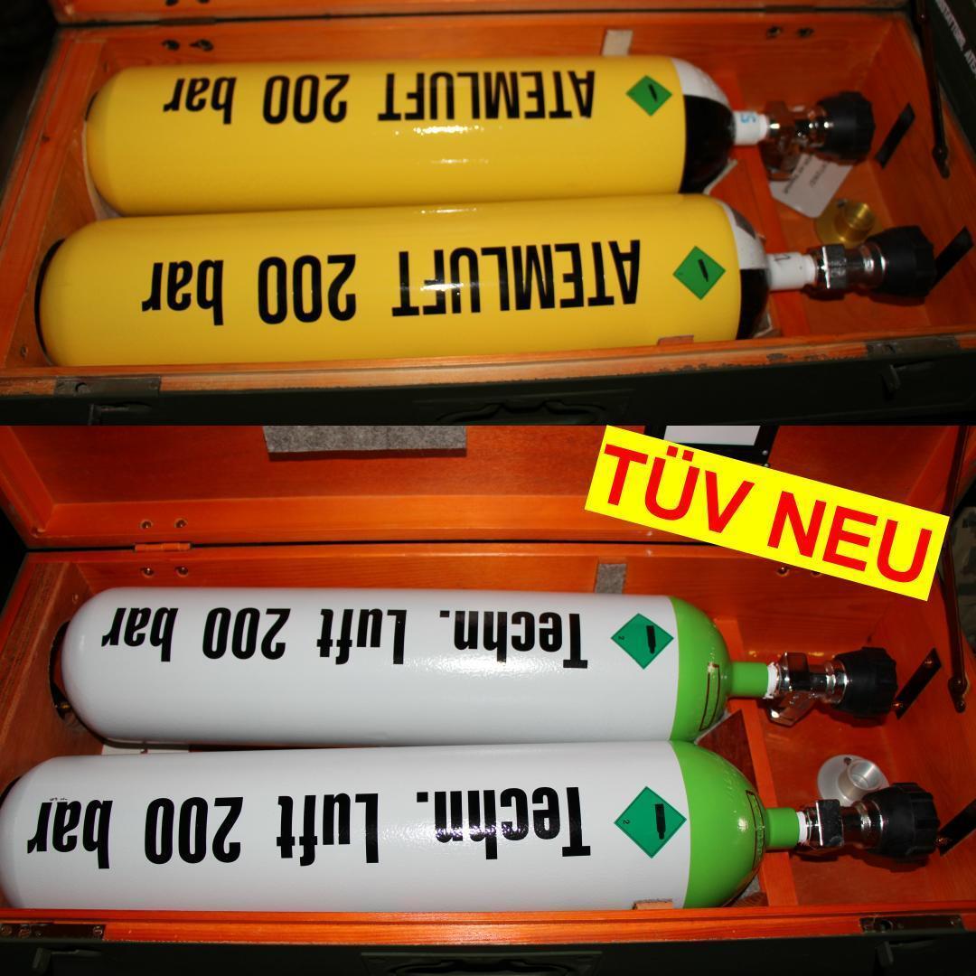 Atemluftflasche Tauchflasche Pressluftflasche Auer 4L / 200 bar mit 10J.Tüv THW