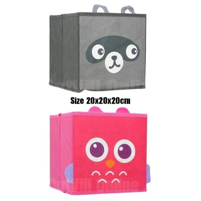 Kids Toy Animal Storage Box Fabric Non Woven Collapsible Organiser Children ZA