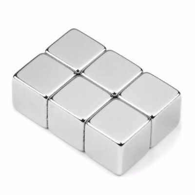 N45 5x5x5mm Cube Cuboid Block Strong Neodymium Rare Earth Magnets Block Magnetic