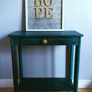 Teal Accent table