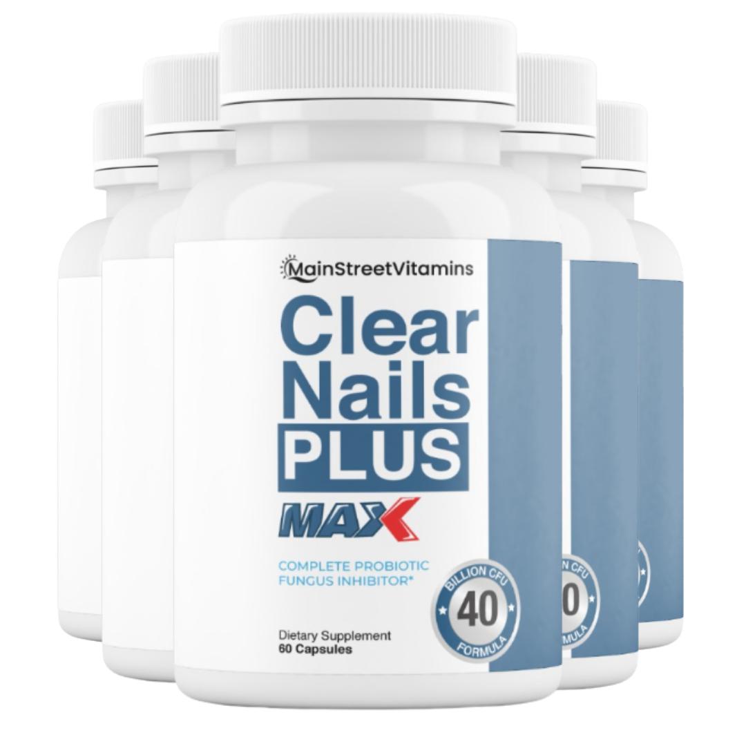 5 Clear Nails Plus Max 40 Billion CFU -  60 Capsules  -300 Capsules - 5 Bottles