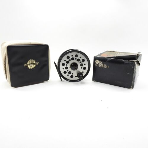 """J.W. Young Beaudex Fly Fishing Reel. 4"""". Made in England."""