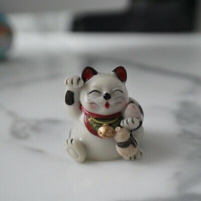 "Japanese Maneki Neko Lucky Fortune Cat Good Luck Hight 2.2"" New"