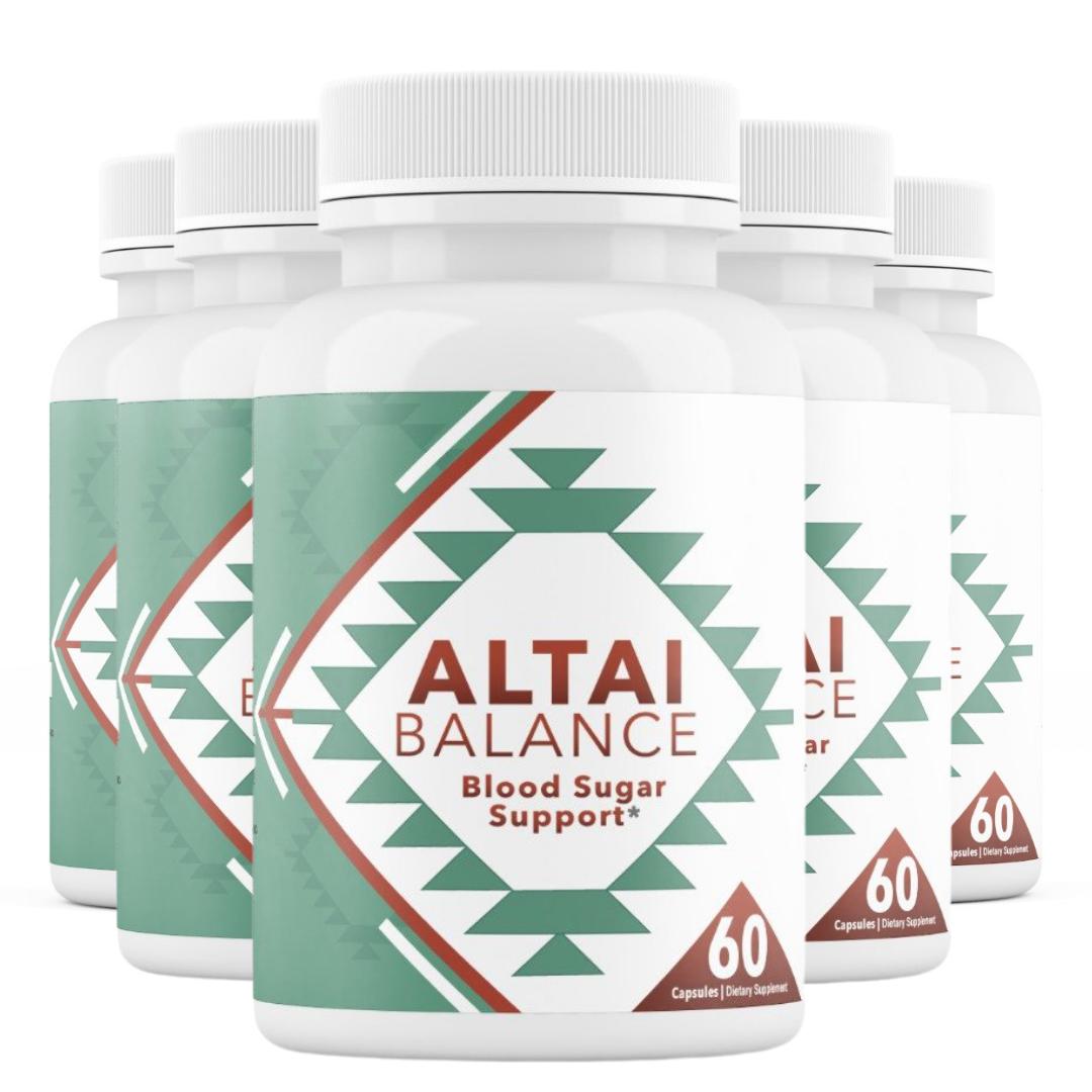 5 Bottles Altai Balance Supports Blood Sugar, Glucose Metabolism 60 Capsules