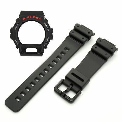 Genuine Casio Watch Band & Bezel Set G-Shock DW-6900 DW-6600 Black Strap & Shell for sale  Marina del Rey
