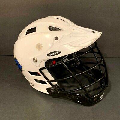 Cascade Lacrosse Clh2 Model Helmet White Black Mask Size Xs
