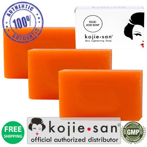 Kojie San Skin Lightening Bleaching Anti-Acne Kojic Acid Soap 3 X 65g= 195g
