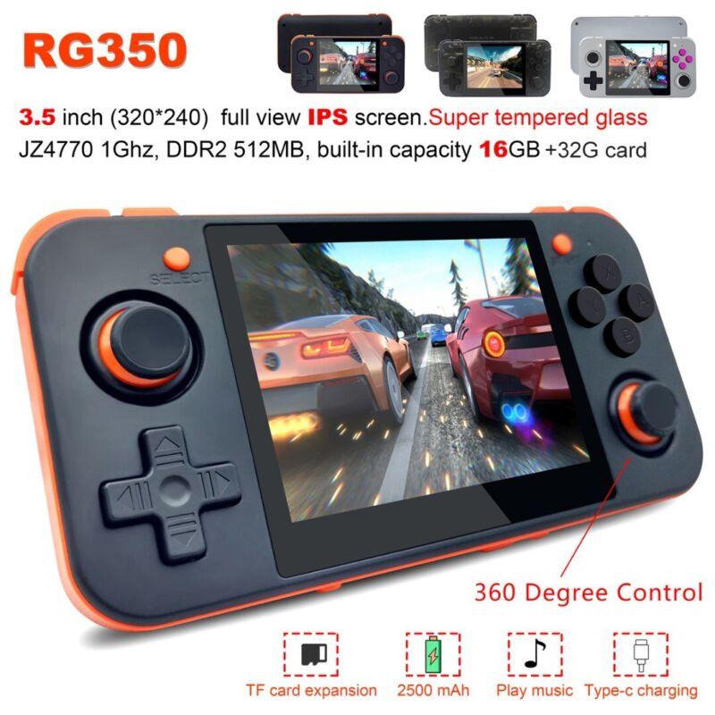 RG350 3.5 inch IPS Retro Upgrade Handheld Game Console + 32G