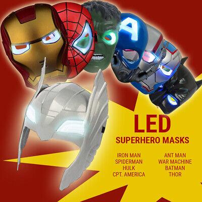 Super Hero Avengers Hulk Batman Captain America Spiderman & Iron man LED Mask (Hulk Mask)
