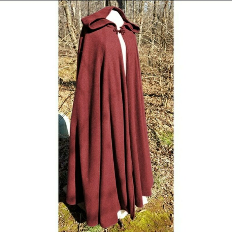 Quality Red Cosplay Witcher Renaissance Hooded Cloak
