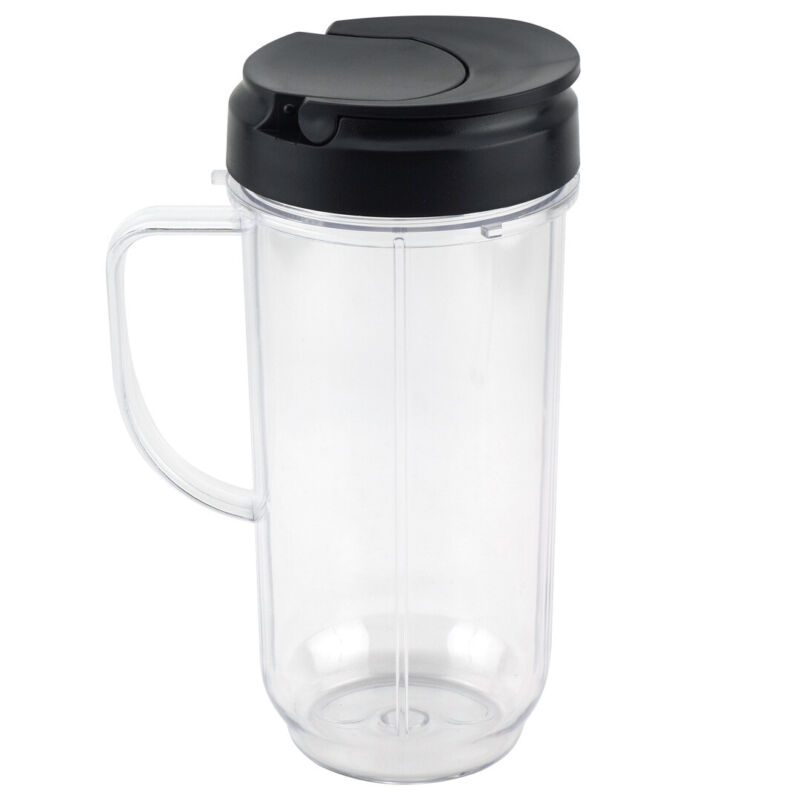 22 oz Tall Cup with To-Go Lid Replacement Part Magic Bullet 250W MB1001 Blenders