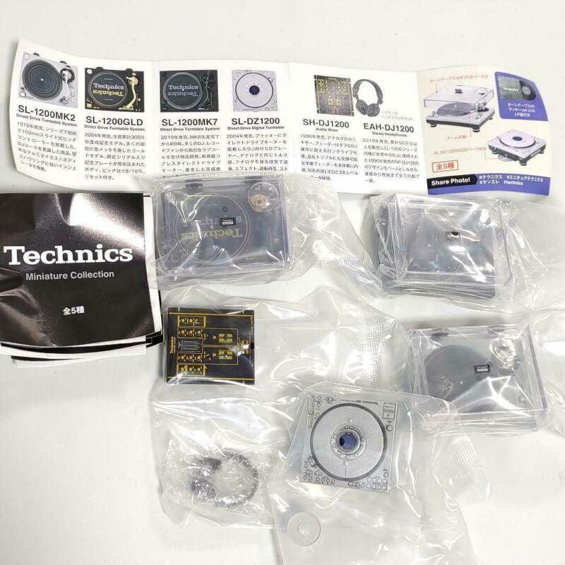 Technics Miniature Collection Turntable Audio Mixer DJ Figure All 5pcs NEW JAPAN