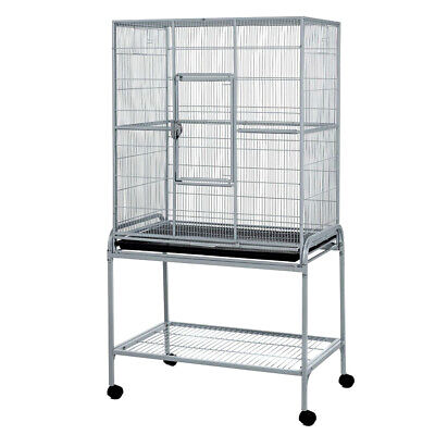 Large Metal Cage For Birds Rats Chinchillas On Wheels With Stand New - Hamberley