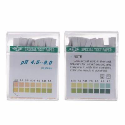 100 Ph Indicator Test Strips 4.5-9 Paper Litmus Tester Laboratory Urine Saliva