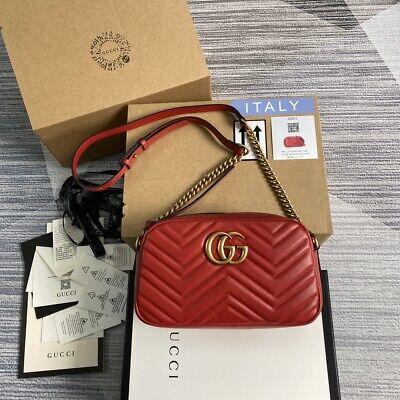 GUCCI GG Marmont Fashion Women's Shoulder Bag Camera bag 24*13*7 cm