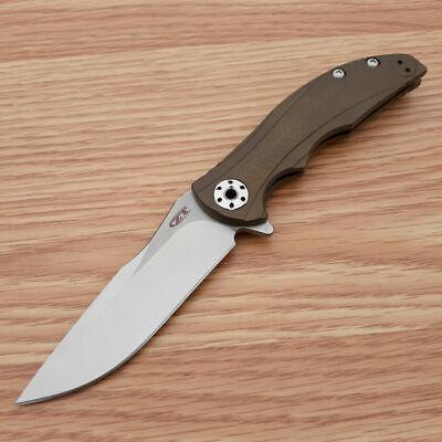 "Zero Tolerance RJ Martin Folding Knife 3.5"" CPM-20CV Steel Blade Titanium Handle"