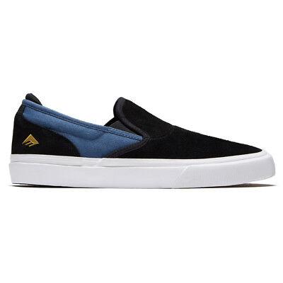 "Emerica ""Wino G6 Slip On"" Sneakers (Black/Blue) Men"