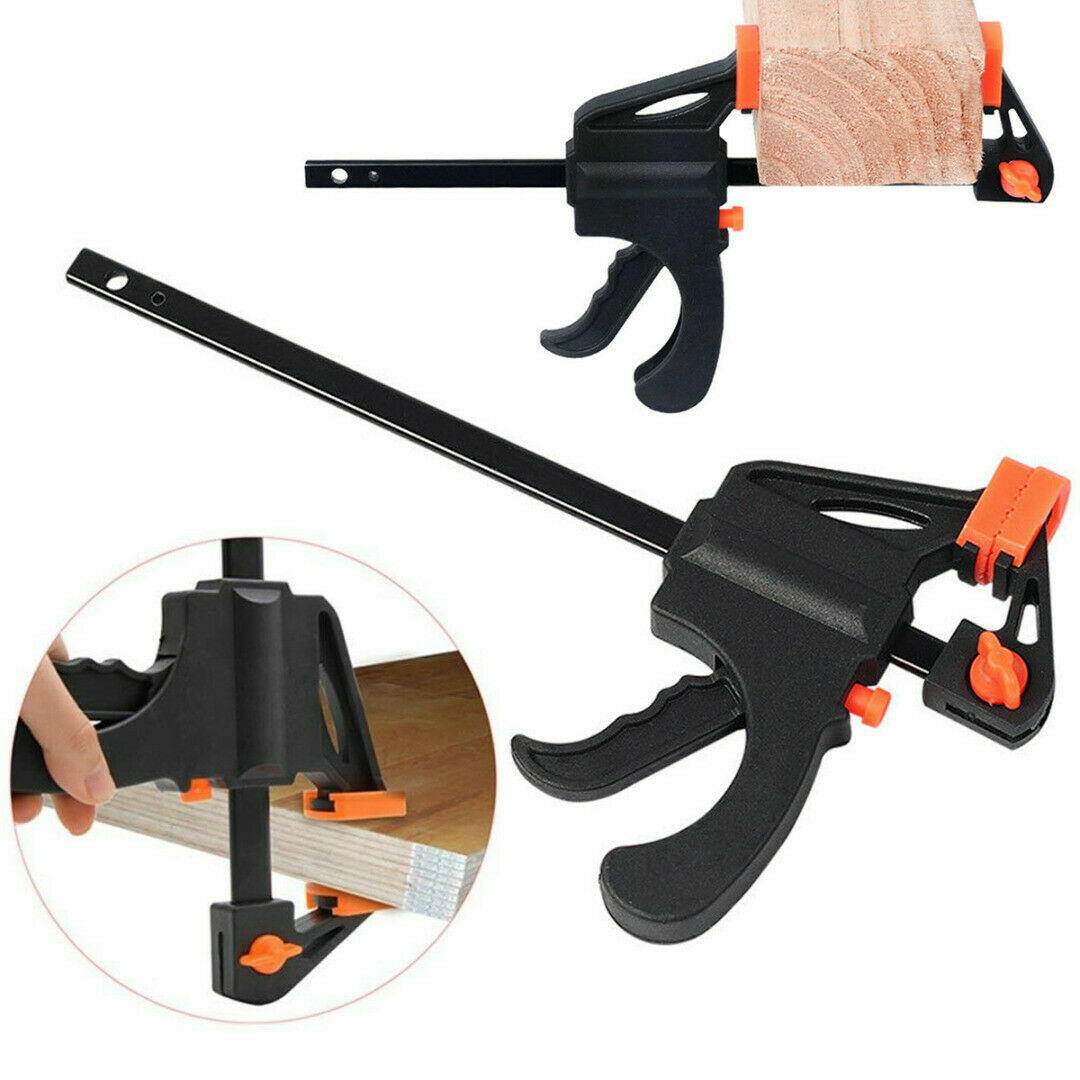 """2 x 150mm 6/"""" Wood Working Bar F Clamp Grip Ratchet Quick Release Squeeze #9-15"""