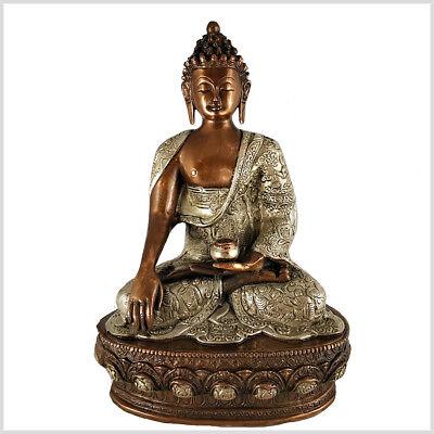 Erdender Buddha Bhumisparsa Erdung Chakra Muladhara Mudra 33 cm 4 KG Messing