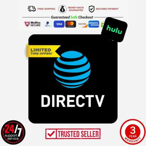 DirectTV | Premier 330+ Channels+ H U L U | 3 Year Warranty | ✨Best Deal✨