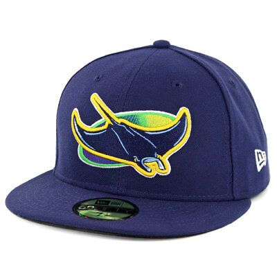 New Era 59Fifty Tampa Bay Rays ALT Fitted Hat (Light Navy) MLB Cap - Tampabay Rays