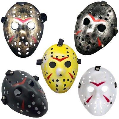 👻HALLOWEEN JASON VOORHEES HOCKEY MASK👻Scary Killer Horror Party Fancy Dress👻 ()