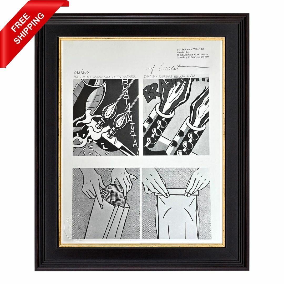 Roy Lichtenstein Original Signed Print With COA - Bread In Bag Or Bottom Bread - $55.00