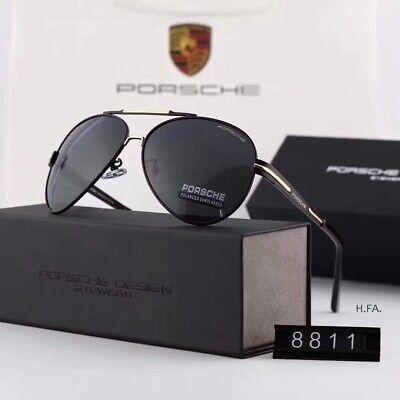 Brand Porsche Sunglasses Designer Outdoor Sports Driving Retro Classic XPD8811