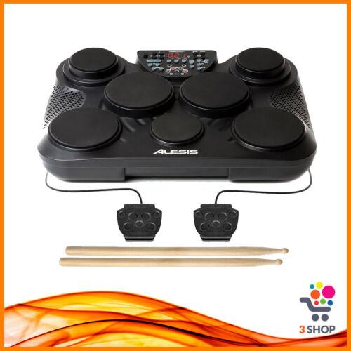 Batteria percussioni elettronica ALESIS da tavolo 7 pad portatile con bacchette