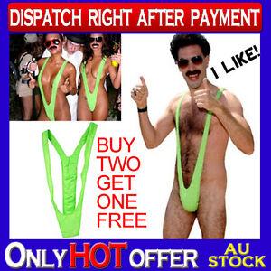 Sexy Borat Mankini Costume Swimsuit Mens Swimwear Thong Sexy Party Wear