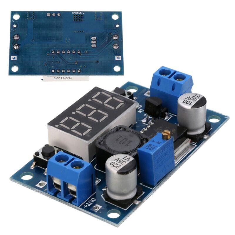 2Stk LM2596 Buck Step down Power Converter Module DC 4.0~40 to 1.3-37V Voltmeter