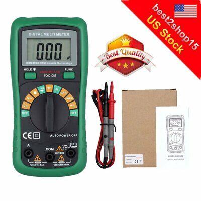 Digital Voltmeter Ammeter Ohmmeter Multimeter Volt Ac Dc Tester Meter 2000uf Usa