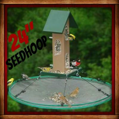 "Songbird Essentials SEED HOOP SEEDHOOP 24"" SEED CATCHER PLATFORM BIRD FEEDER NEW"