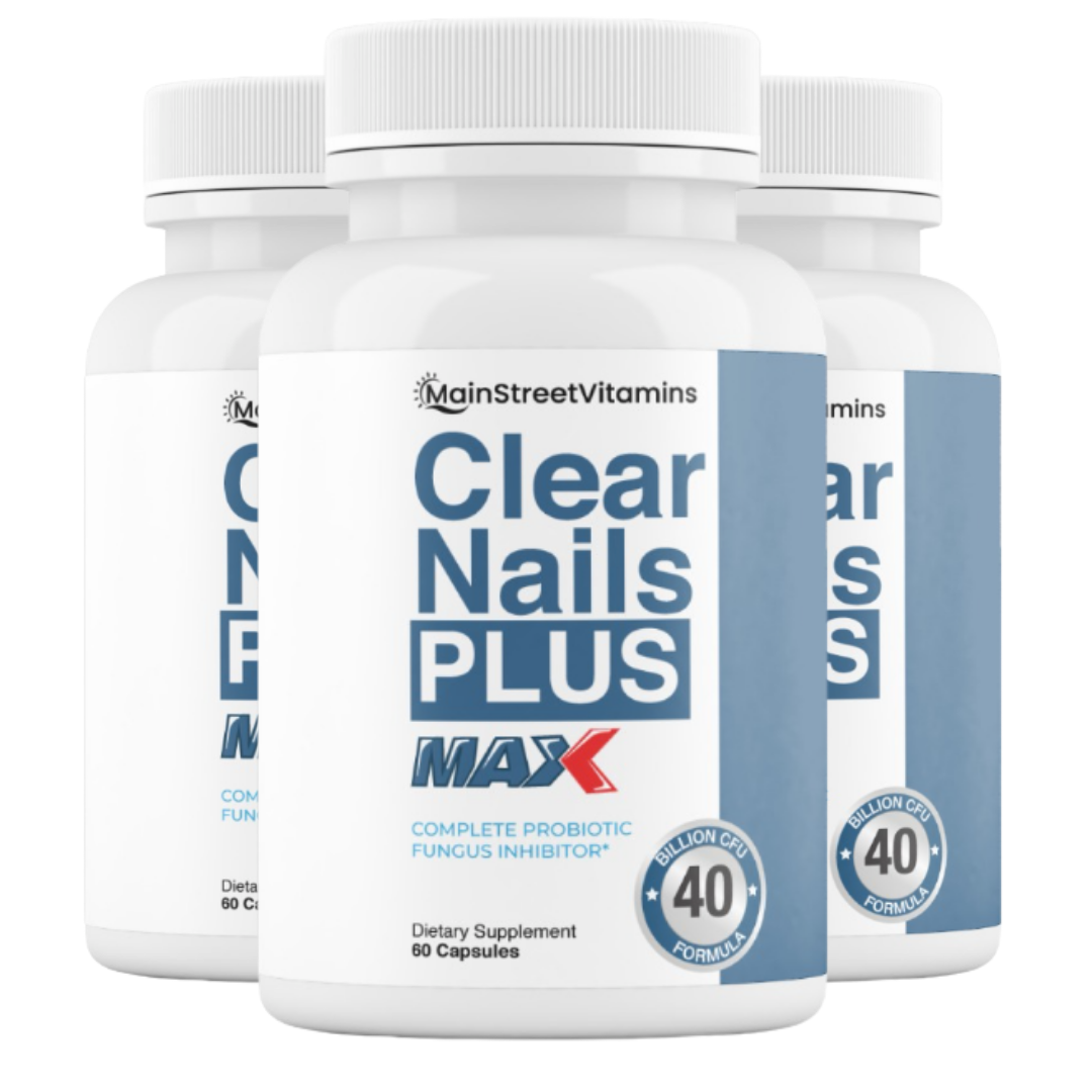 3 Clear Nails Plus Max 40 Billion CFU -  60 Capsules  -180 Capsules - 3 Bottles